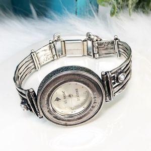 Silpada 925 Hammered Pearl Flower Watch T1315
